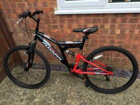 Men's muddy fox bike