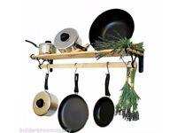 Kitchen shelf/pan rack