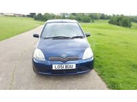 TOYOTA YARIS 3 DR AUTOMATIC, LONG MOT, VERY LOW MILEAGE, FULL VOSA MILEAGE HISTORY,4 GOOD TYER,A/C