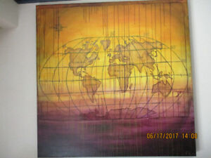Striking world art on your wall.