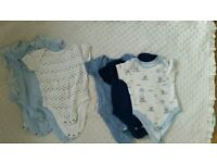 Variety of baby vests 0-3 and 3-6 months