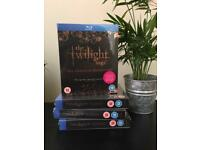 THE TWILIGHT SAGA BLU RAY DVDS