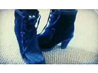 Genuine Calvin Klein Ankle Boots Black Size 6