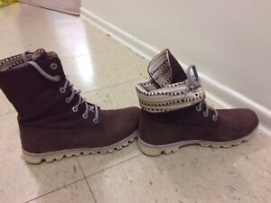 Purple Timberland Boots women's 8