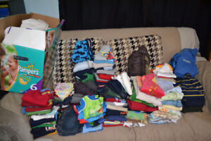 140+ lot of boy clothes size 12 months - 2t
