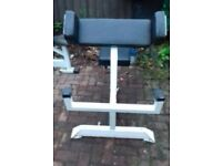 Commercial seated Preacher Curl Bench - Full adjustable seat - Bullet proof