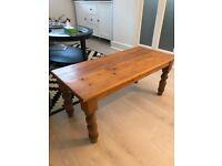 Oak wood rectangle coffee table £20
