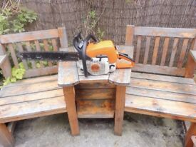 """STIHL MS390 CHAINSAW WITH 20"""" BAR AND NEW CHAIN"""