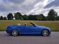 BMW E46 M3 INDIVIDUAL ESTORIL BLUE WITH LOTUS WHITE LEATHER ESTORIL BLUE 77K!!!