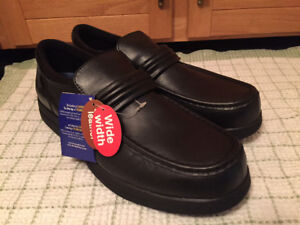 Men's New Black Leather Loafers