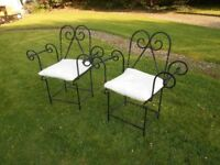 Cast Iron Chairs With Cushions