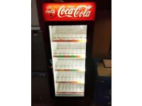Tall Coca-Cola Drinks Fridge