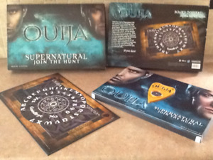 2014 supernatural join the hunt ouija board game. Hasbro .