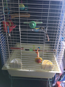Great Bird Cage on Stand with Accessories