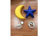 Ikea moon and stars wall lights