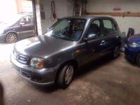 2002 NISSAN MICRA 1.4..LONG MOT.5 DOOR..CLEAN CAR