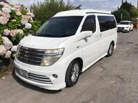 Nissan Elgrand E51 7 seater MPV with pop top camper Automatic