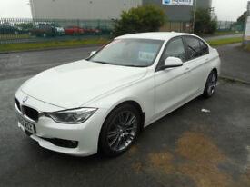 BMW 320 DIESEL 4 DOOR AUTO DYNAMICS SAT NAV PEARL WHITE