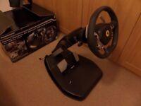 Thrustmaster Ferrari vibration GT cockpit 458 Italia edition steering wheel for the Xbox360