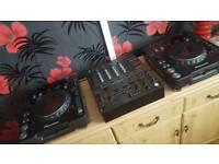 2x Pioneer Mrk3 CDJs + DJM 600 + MORE
