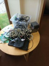 Cables, wires, PC bundle