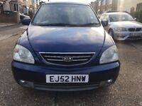 KIA CARENS LX, 2003, MANUAL 1.8,FULL SERVICE HISTORY,2 PREVIOUS OWNER,EXCELLENT CONDITION LADY OWNER