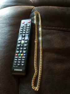 """115.8g solid miami cuban link chain 24"""" 9mm"""