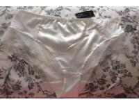 Ladies Cream Satin French Knickers