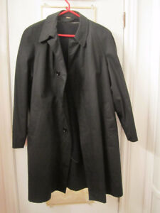 Over Coat with removable lining Black  Size 42