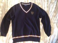 Fred Perry Sweater - Size: Medium - Colour: Navy Blue - Excellent Condition - 100% cotton