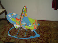 Fisher Price Vibrating baby rocker with music & toys