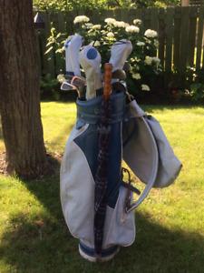 Sac de golf et batons