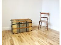 Vintage Domed Travelling Trunk / Blanket Box / Storage Chest