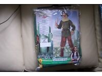 Wizard of Oz Scarecrow Child Costume, Medium 5-7 years. Shirt, Pants with attached boot tops/covers