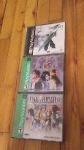 Lot de jeux final fantasy ps1 70$