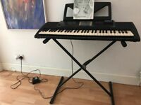 Yamaha PSR300 Piano Keyboard, stand and adaptor - excellent condition