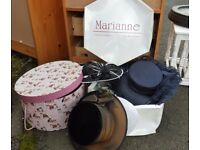 HAT & FASCINATOR BUNDLE SOME DESIGNER & NEW ALL 5 PIECES FOR JUST £10 2 BOXES ALSO