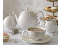 Denby Monsoon Lucille Gold china Afternoon Tea set for 6. Excellent condition.