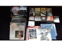 Vinyl records and cd collection.