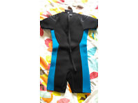 Kids Shortie Wetsuit K07 in blue