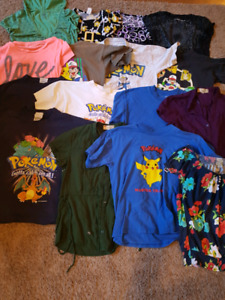 sizes small youth to XS ladies t-shirt (Pokemon, and fancy tees)