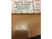 V Festival weekend ticket - no camping