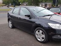 2008 08 FORD FOCUS 1.6 STYLE 12 MONTHS MOT QUICKSALE PANTHER BLACK AIRCON ALLOYS NEW TYRES