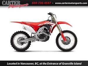New 2017 Honda CRF450RH - Save $1000!