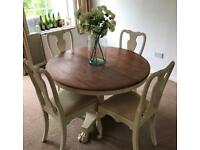 Antique Victorian Table and 4 chairs