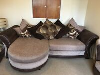 4 seater sofa, 2 Seater spin chair and storage foot stool
