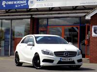 MERCEDES-BENZ A CLASS A220 2.1 CDi BLUEEFFICIENCY AMG SPORT 5dr AUTO 170 (white) 2013