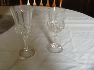 Crystal wine glasses for sale