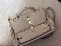 MISHA cream leather handbag
