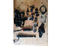 BARELY USED Go Pro 3+ official Accessories incl straps, LCD, batteries etc (RRP £200)